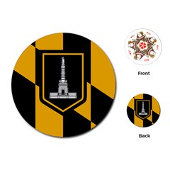 Flag Of Baltimore Playing Cards (round)
