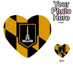Flag Of Baltimore Multi Purpose Cards (heart)