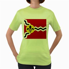 Flag Of St Women s Green T Shirt