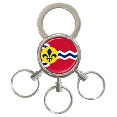 Flag Of St 3 Ring Key Chains