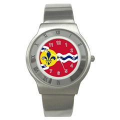 Flag Of St Stainless Steel Watch