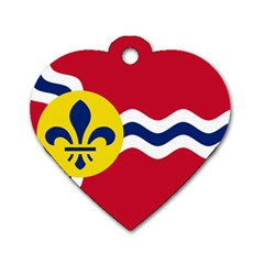 Flag Of St Dog Tag Heart (one Side)