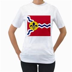 Flag Of St Women s T-Shirt (White)