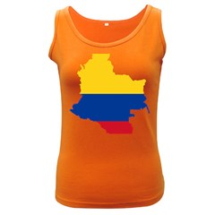 Flag Map Of Colombia Women s Dark Tank Top