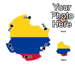 Flag Map Of Colombia Playing Cards 54 (Round)