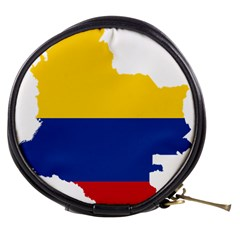 Flag Map Of Colombia Mini Makeup Bags