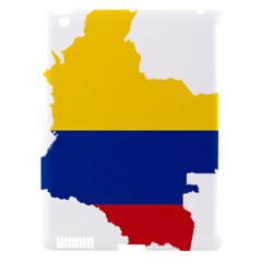 Flag Map Of Colombia Apple iPad 3/4 Hardshell Case (Compatible with Smart Cover)
