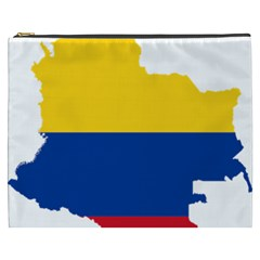 Flag Map Of Colombia Cosmetic Bag (XXXL)