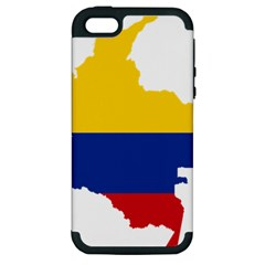 Flag Map Of Colombia Apple iPhone 5 Hardshell Case (PC+Silicone)