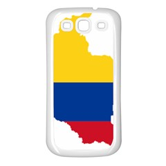 Flag Map Of Colombia Samsung Galaxy S3 Back Case (White)