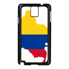 Flag Map Of Colombia Samsung Galaxy Note 3 N9005 Case (Black)
