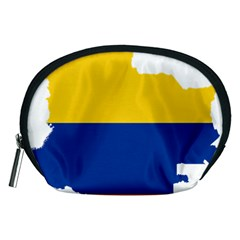 Flag Map Of Colombia Accessory Pouches (Medium)