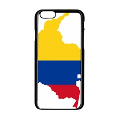 Flag Map Of Colombia Apple iPhone 6/6S Black Enamel Case