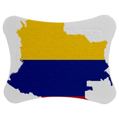 Flag Map Of Colombia Jigsaw Puzzle Photo Stand (Bow)