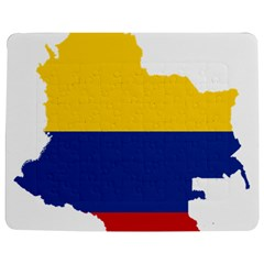 Flag Map Of Colombia Jigsaw Puzzle Photo Stand (Rectangular)