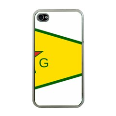 Flag Of The People s Protection Units Apple iPhone 4 Case (Clear)