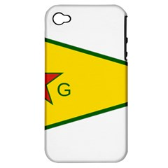 Flag Of The People s Protection Units Apple iPhone 4/4S Hardshell Case (PC+Silicone)