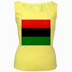 Pan African Flag  Women s Yellow Tank Top