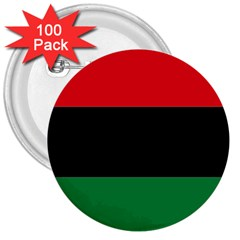 Pan African Flag  3  Buttons (100 pack)