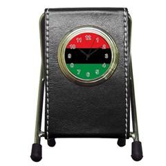 Pan African Flag  Pen Holder Desk Clocks