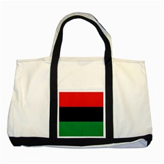 Pan African Flag  Two Tone Tote Bag