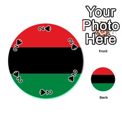 Pan African Flag  Playing Cards 54 (round)