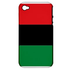 Pan African Flag  Apple iPhone 4/4S Hardshell Case (PC+Silicone)