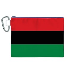 Pan African Flag  Canvas Cosmetic Bag (XL)