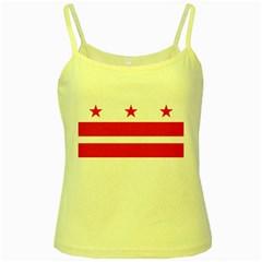 Flag Of Washington, Dc  Yellow Spaghetti Tank