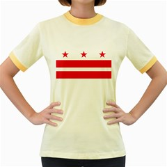 Flag Of Washington, Dc  Women s Fitted Ringer T-Shirts