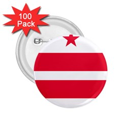 Flag Of Washington, Dc  2.25  Buttons (100 pack)