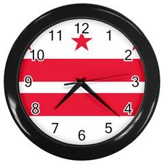 Flag Of Washington, Dc  Wall Clocks (Black)