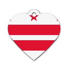 Flag Of Washington, Dc  Dog Tag Heart (Two Sides)