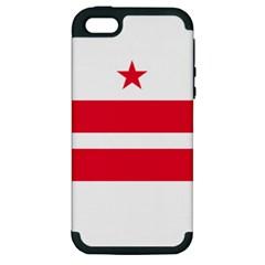 Flag Of Washington, Dc  Apple iPhone 5 Hardshell Case (PC+Silicone)