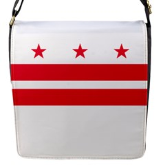 Flag Of Washington, Dc  Flap Messenger Bag (S)