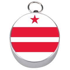 Flag Of Washington, Dc  Silver Compasses