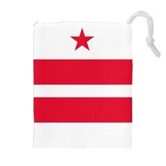 Flag Of Washington, Dc  Drawstring Pouches (extra Large)