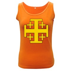 Jerusalem Cross Women s Dark Tank Top