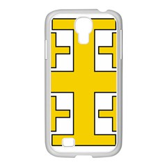 Jerusalem Cross Samsung GALAXY S4 I9500/ I9505 Case (White)