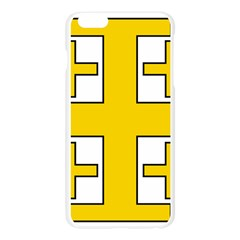 Jerusalem Cross Apple Seamless iPhone 6 Plus/6S Plus Case (Transparent)