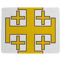 Jerusalem Cross Jigsaw Puzzle Photo Stand (Rectangular)