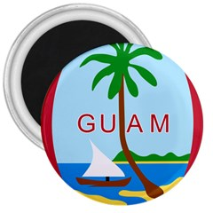 Seal Of Guam 3  Magnets