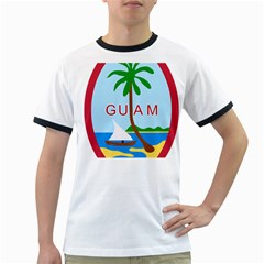 Seal Of Guam Ringer T-Shirts