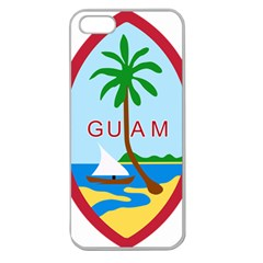 Seal Of Guam Apple Seamless iPhone 5 Case (Clear)