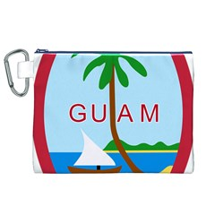 Seal Of Guam Canvas Cosmetic Bag (XL)