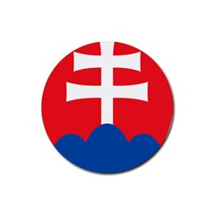 Slovak Air Force Roundel Rubber Coaster (Round)