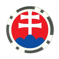 Slovak Air Force Roundel Poker Chip Card Guards (10 pack)