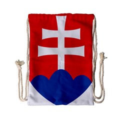 Slovak Air Force Roundel Drawstring Bag (Small)