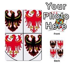 Coat Of Arms Of Trentino Alto Adige Sudtirol Region Of Italy Multi Purpose Cards (rectangle)