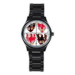 Coat Of Arms Of Trentino Alto Adige Sudtirol Region Of Italy Stainless Steel Round Watch